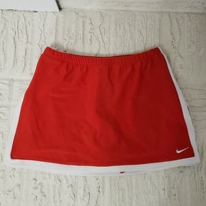 Nike Dry Fit Tennis Skirt Skorts Red and White XS